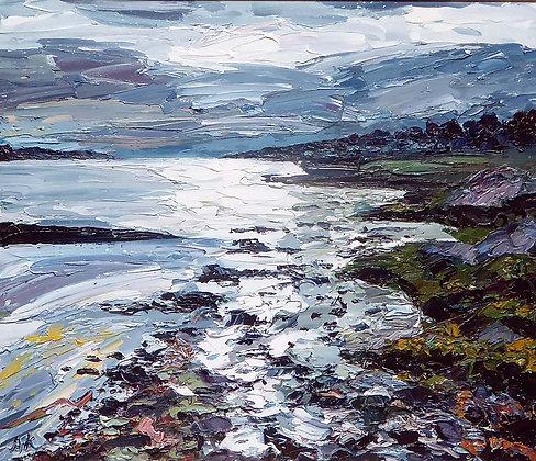 Sunset Maltreath - Oil -  Alan Knight