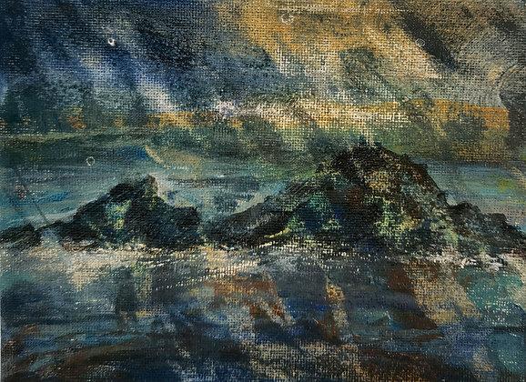 Rain at Traeth Llyfn - Victoria Reynolds Miniatures