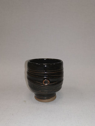Tenmoku Dark Footed Beaker  III - Tim Lake