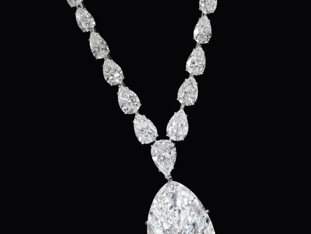 Pear shape 116 carat necklace sold for $6 millions