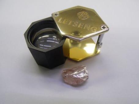 The Letšeng diamond mine second pink diamond
