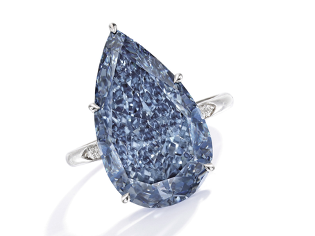 An incredible Fancy Vivid Blue Diamond on Auction