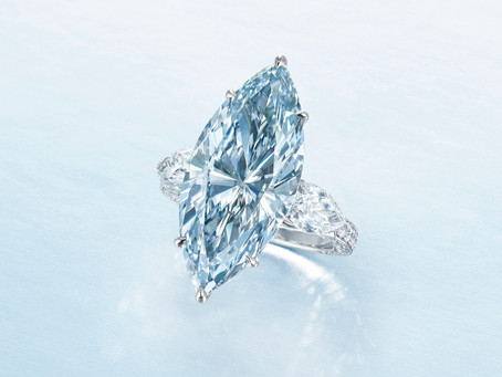 The Blue colour diamond still gets High in Auction!