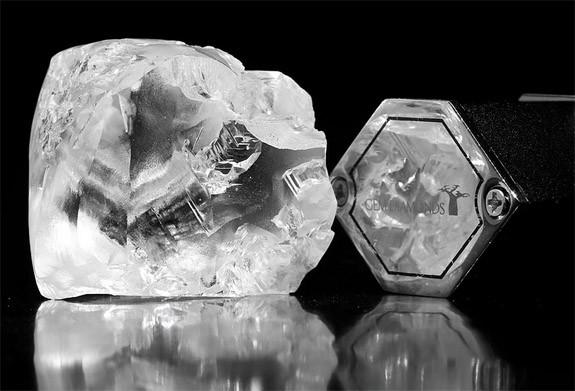 357 carat Letšeng Dynasty courtesy of GemDiamonds Corp.