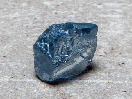 High Quality 39.34 carat Blue Diamond at the Cullinan Mine