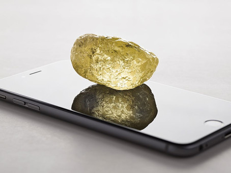The yellow CanadaMark diamond.