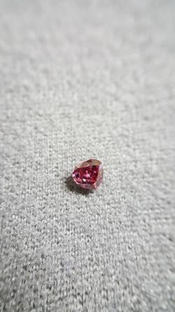 Fancy Red Heart shape