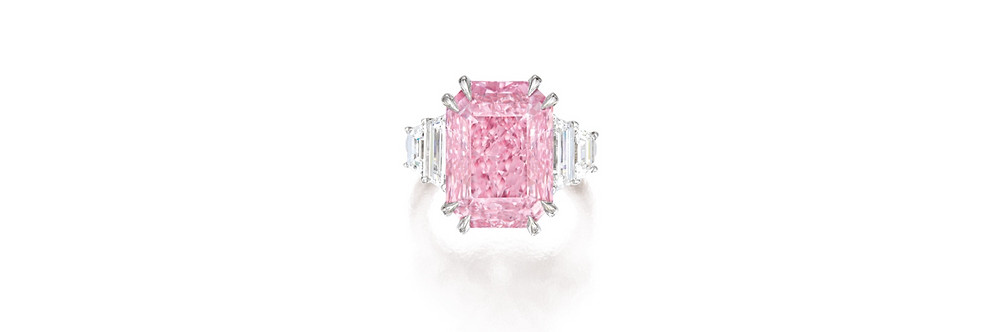 10.64 carat Fancy Vivid Purplish Pink courtesy of Sotheby's