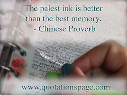 The palest ink is better than the best m