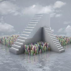 Each step leads to the top