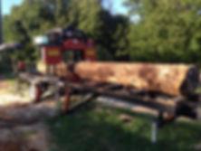 Saw Mill 24 foot log