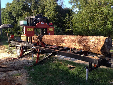 Saw Mill 24 foot log