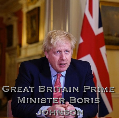 GREAT BRITAIN PRIME MINISTER BORIS JOHNSON