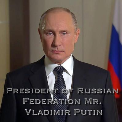 PRESIDENT OF RUSSIAN FEDERATION VLADIMIR PUTIN