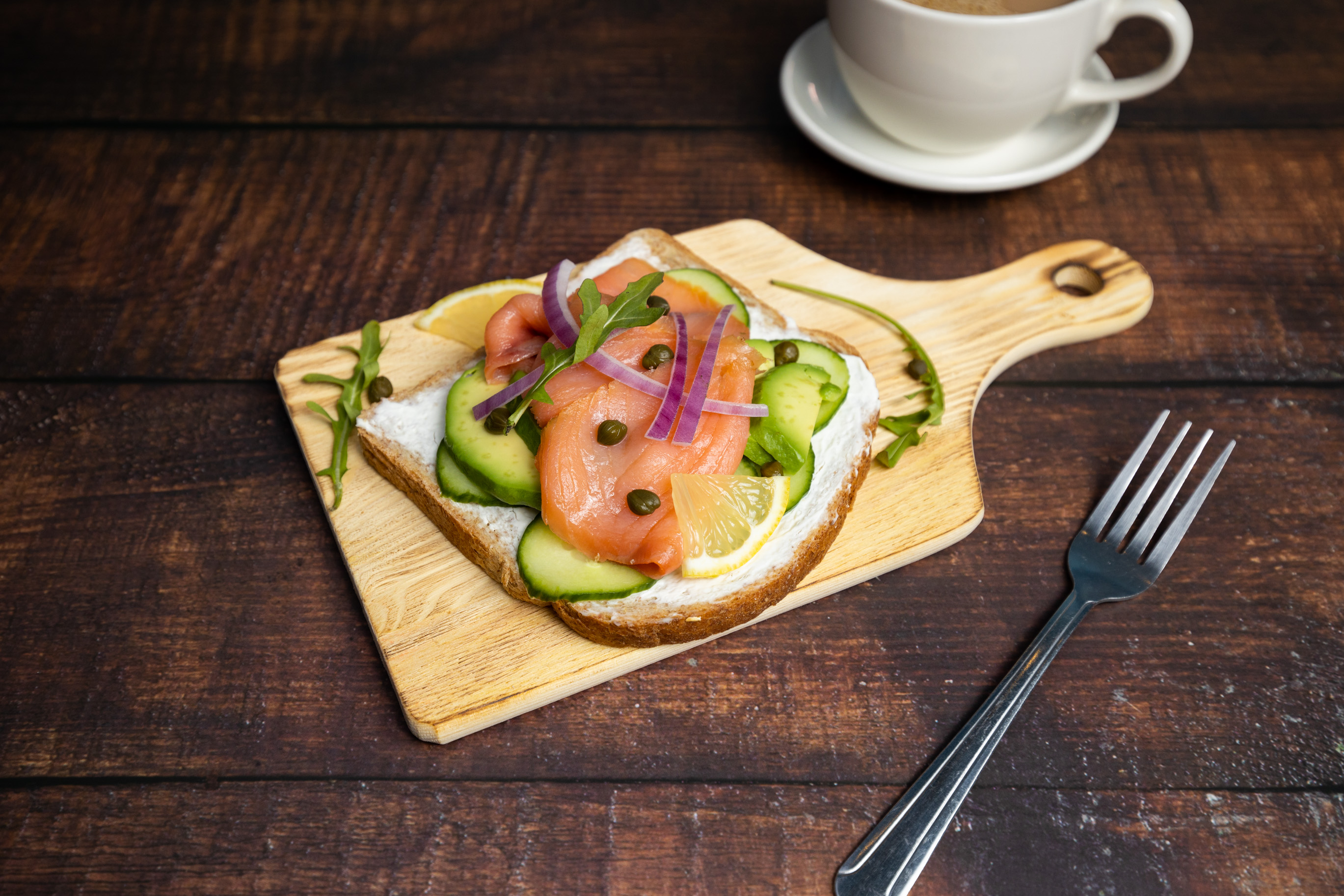 Smoke Salmon Avocado Toast