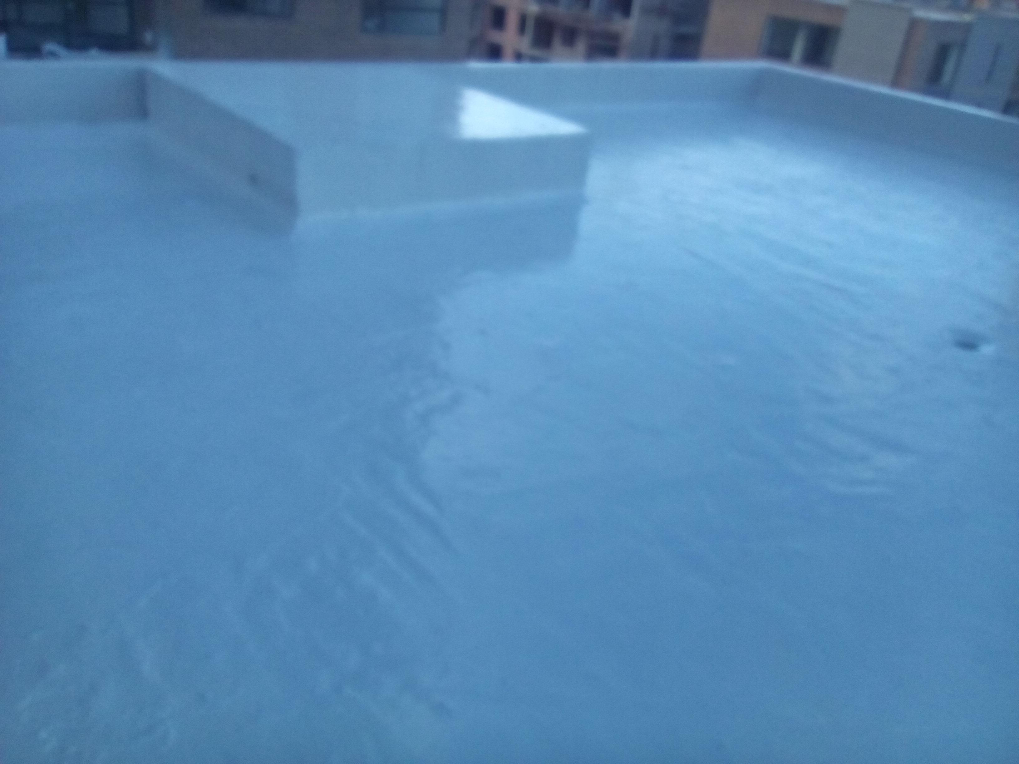 Impermeabilización cubierta con poliuretano