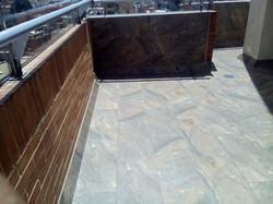 Terraza con acabado, impermeabilizada con sistema bicapa