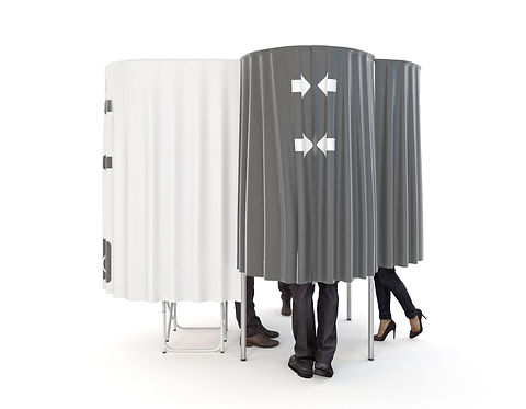 3d cgi image of voting booth