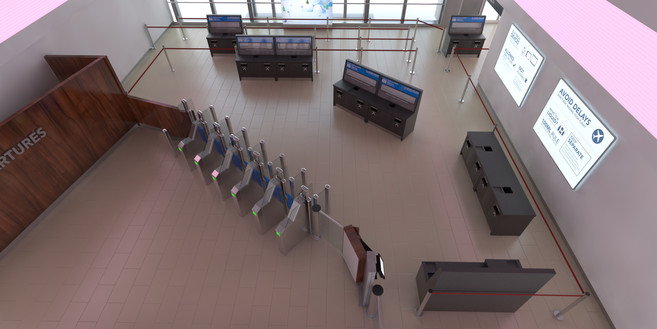 London city airport security vizualisation