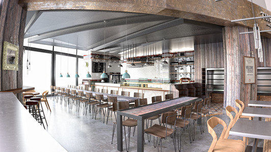 Galley cafe 3D visualisation Titanic Belfast