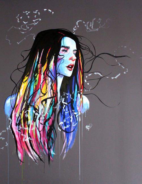 """Mural at """"Hair Voyant"""" Salon in NJ"""