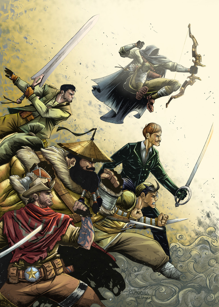 """""""The Six Swords"""" Variant Cover Issue #2"""