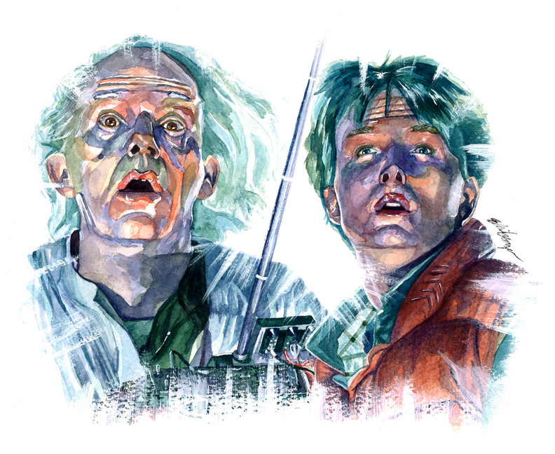 Doc and Marty (Christopher Lloyd and Michael J. Fox)