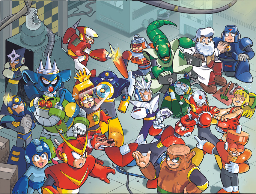 """""""Mega Man"""" Issue #49 Pages 4-5"""