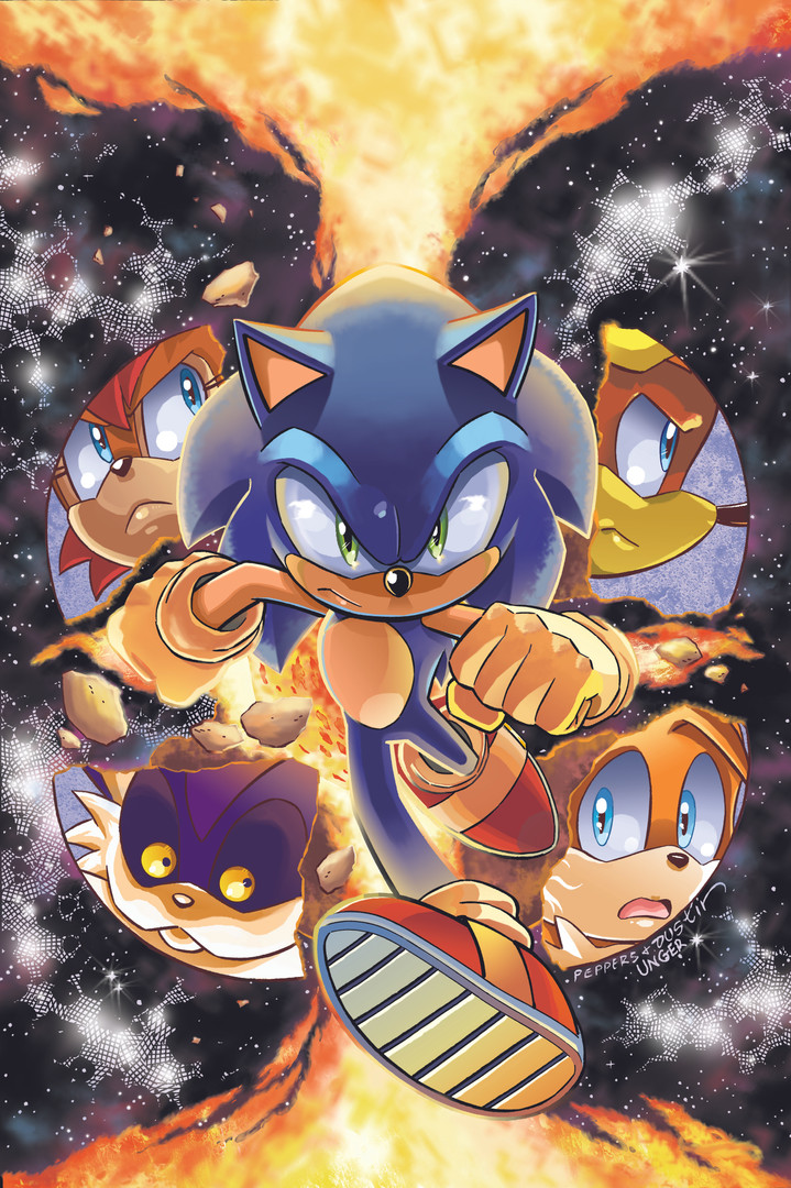 """Archie's """"Sonic the Hedgehog"""" Cover Issue #278"""