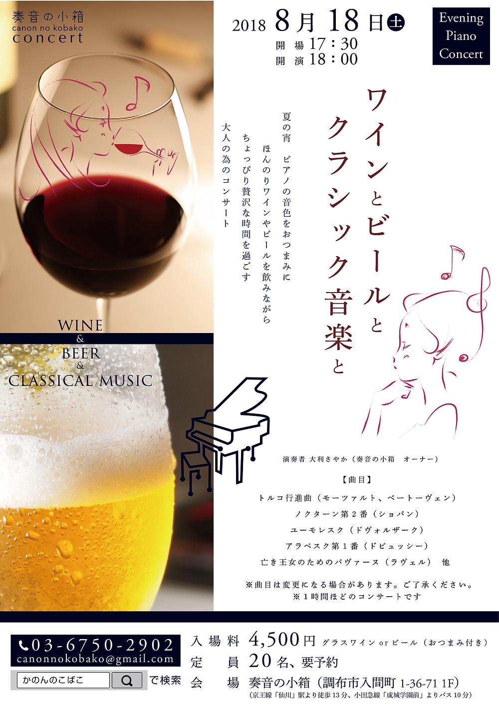 ワインとビールとクラシック音楽と