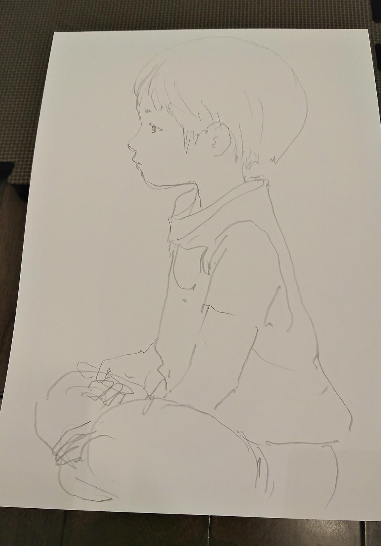 似顔絵プレゼント1
