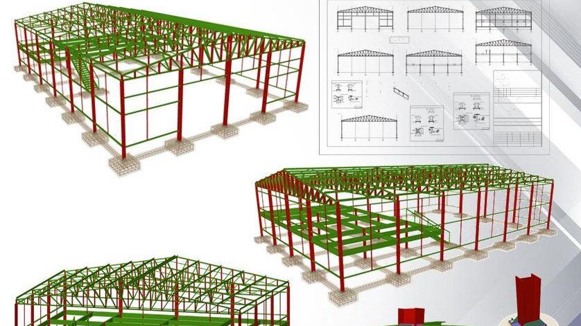 CypeCad Metálicas 3D 2019 - Cálculo de Galpão e Mezanino
