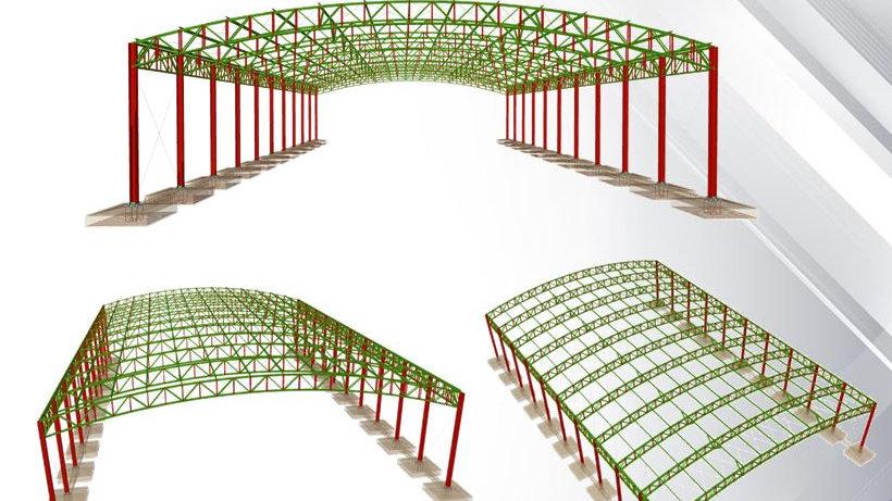 CypeCad Metálicas 3D 2019 - Cálculo Galpão em Arco
