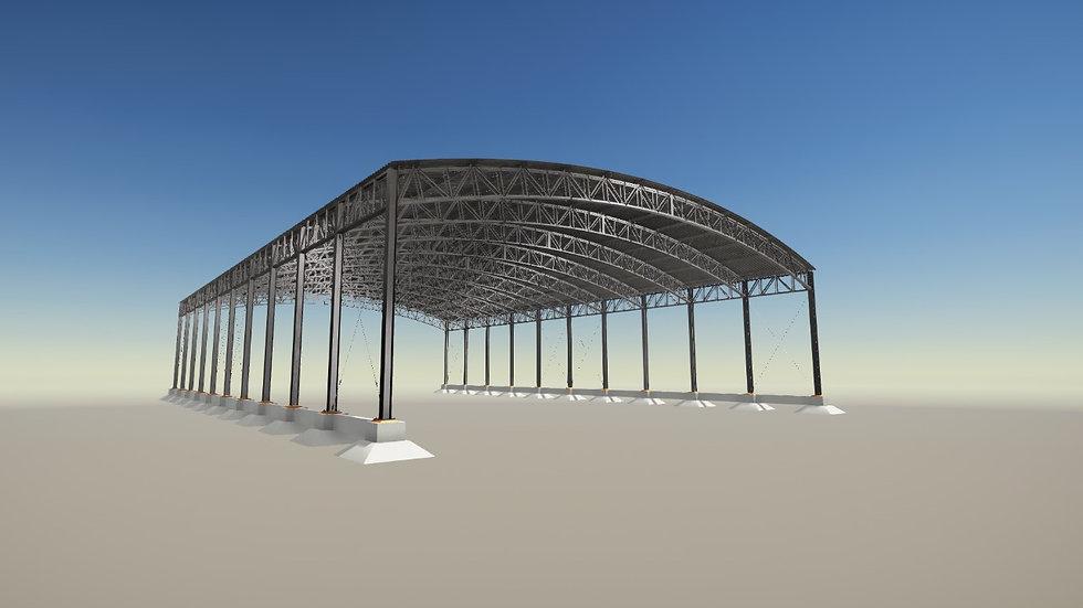 Curso Tekla Structures - Galpão em Arco