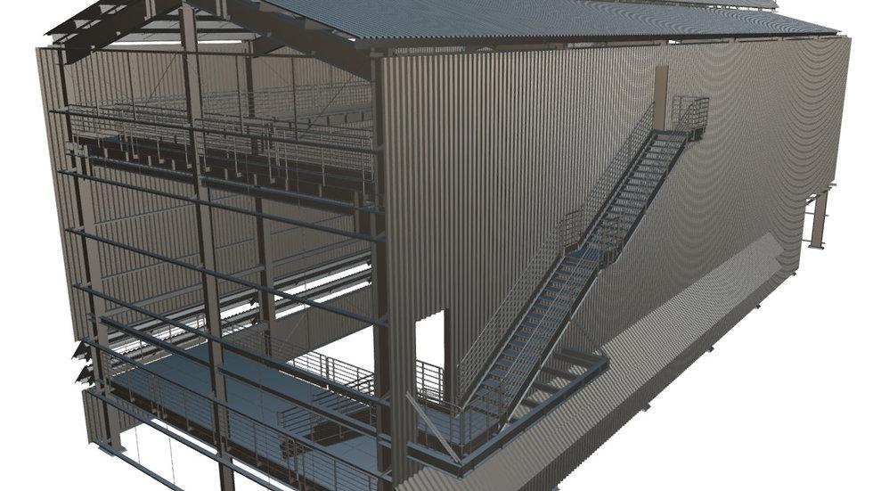 Curso Tekla Structures - Galpão Industrial