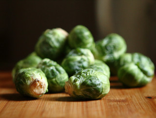 Garlic Lemon Roasted Brussels Sprouts