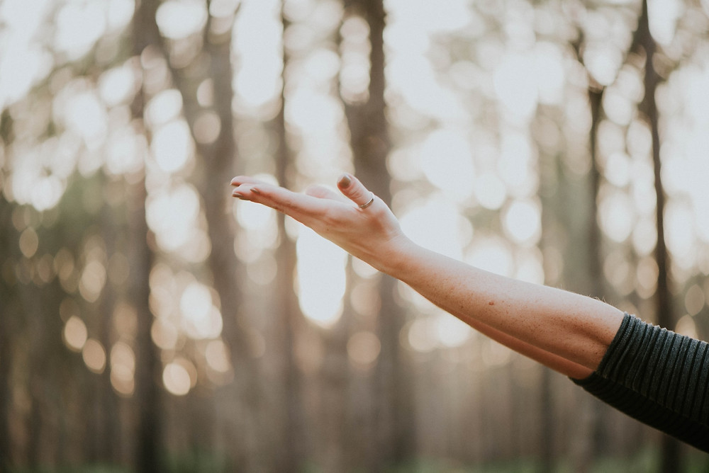 A woman's outstretched arm