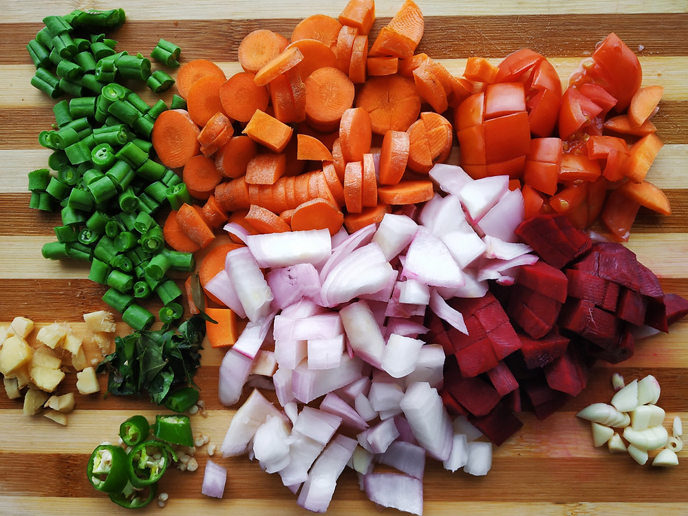 Colourful veg