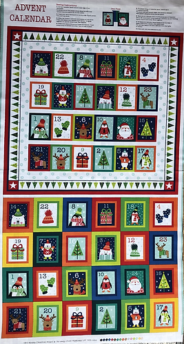 Novelty Christmas advent calendar Panel