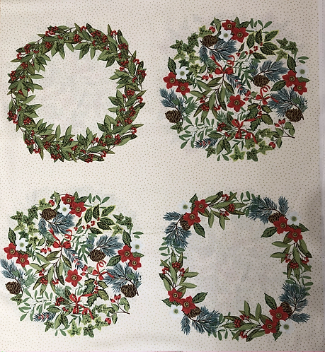 Yuletide Wreath Panel