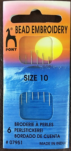 Bead Embroidery Needles by Pony size 10