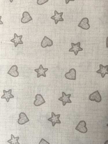 Scandi 2 Hearts and stars - cream