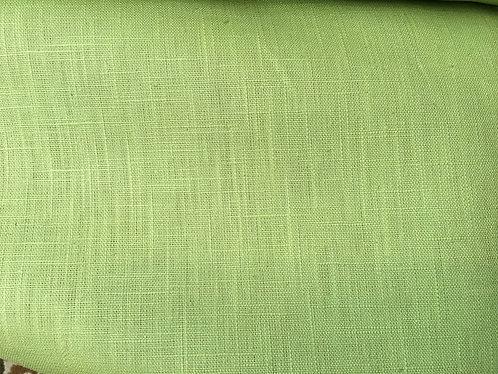 100% Linen Lime Green