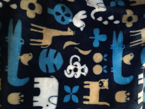 Supersoft polar fleece, jungle animals