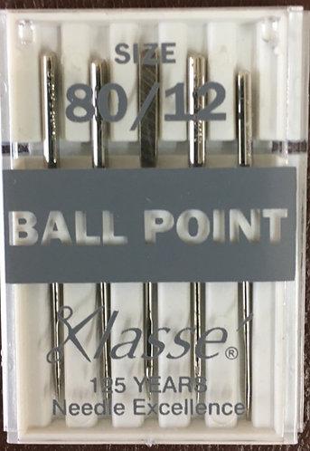 Ballpoint needles size 80/12