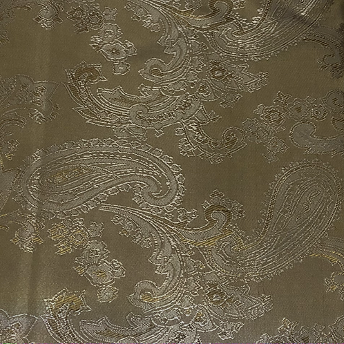Gold paisley polyester lining
