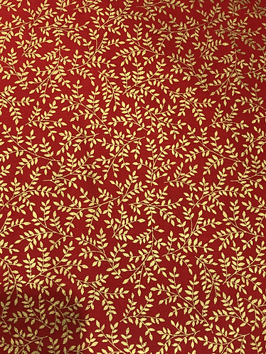 metallic leaves - red