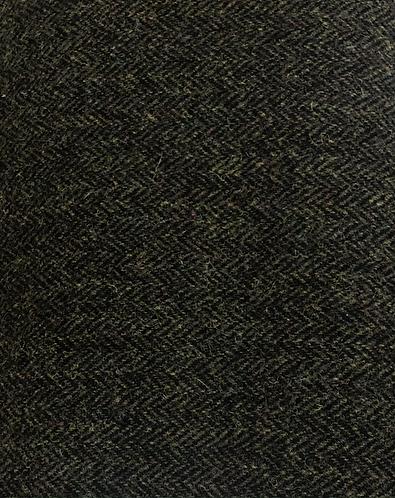 Dark green Herringbone Harris Tweed