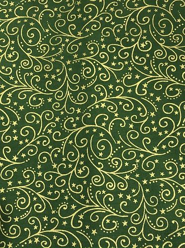 Metallic Scroll Green