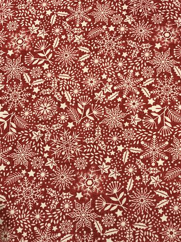 Scandi Snowflake red